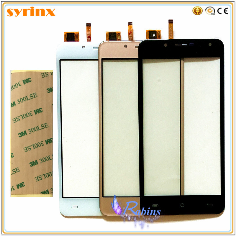 SYRINX 5.0 Inch Touchscreen For Cubot Rainbow 2 Touch Screen Digitizer Sensor Front Glass Touch Panel Lens Replacement 3m Tape
