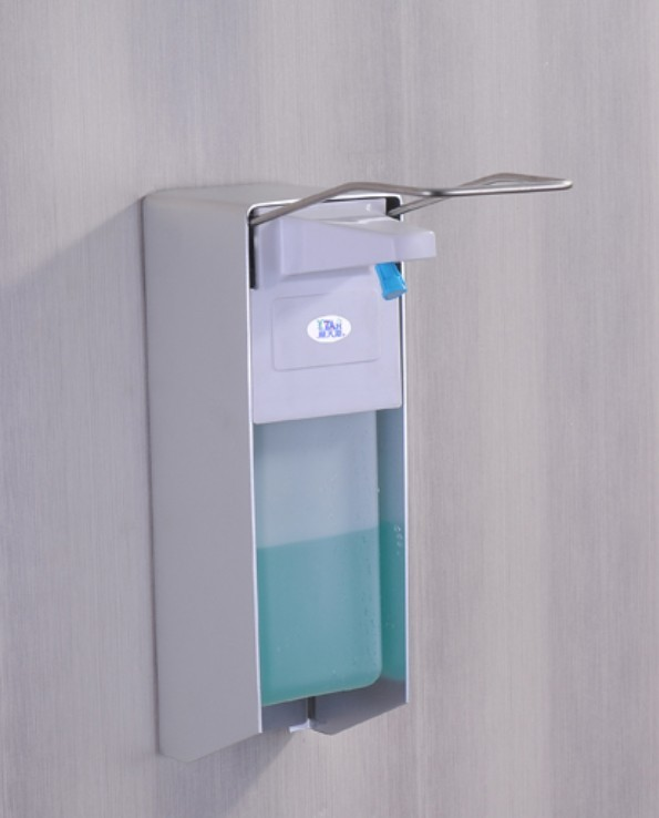 Wall mounted Elbow hand sanitizer soap dispenser used in hospital For HOLDER