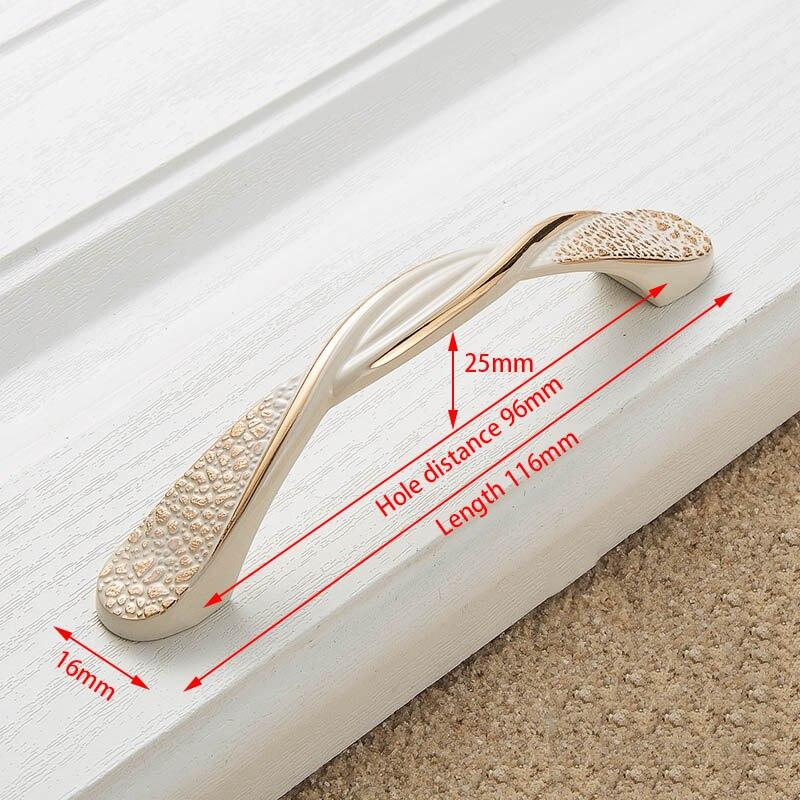 KAK цинк Aolly цвета слоновой кости ручки для шкафа кухонный шкаф дверные ручки для выдвижных ящиков Европейская мода оборудование для обработки мебели - Цвет: Handle-8821-96
