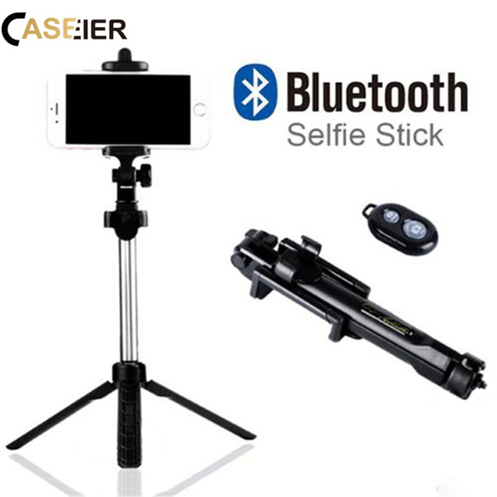 CASEIER Bluetooth Selfie Tripod Stick Holder Monopod Stick