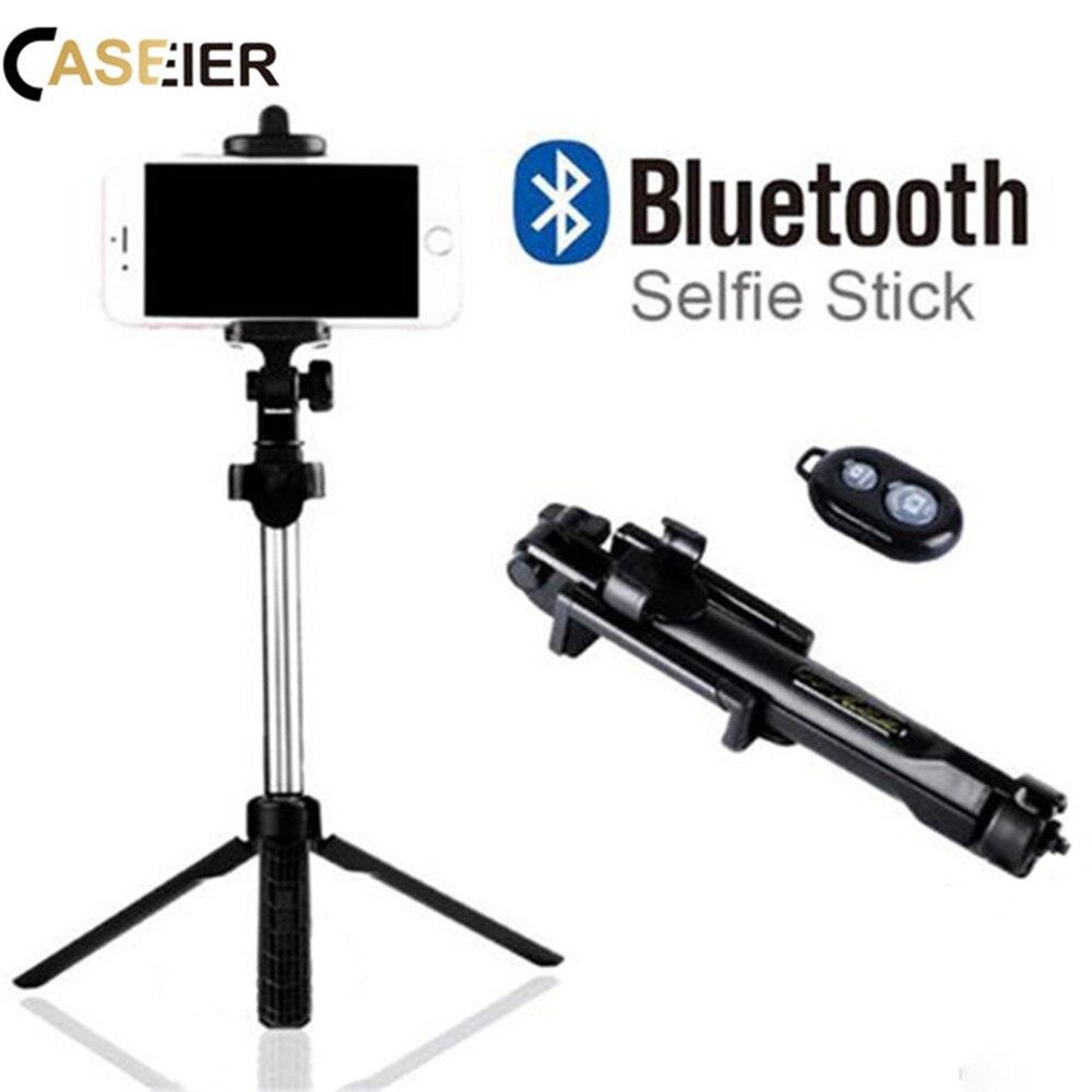 CASEIER Bluetooth Selfie trípode soporte para iPhone X XR Xs Max 8 7 6 6 s 5 Monopod soporte para Samsung S9 más Remoto Portátil