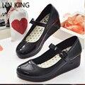 LIN REI Lolita Doce Lourie Cosplay Único WomeSn enxadas Sapatos de Cunha Senhora Sapatos Da Moda Mulheres Bombas Plataforma Do Partido Lazer Feminino