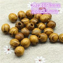 10*9mm oval contas de madeira de pinho marrom moda jóias acessórios frete grátis 100 pçs/lote
