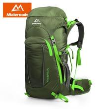 Maleroads 45L Waterproof Climbing Hiking Backpack Rain Cover Bag 45L Camping Mountaineering Backpack Sport Outdoor Bike Bag