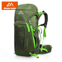 Maleroads 45L Waterproof Climbing Hiking Backpack Rain Cover Bag 45L Camping Mountaineering Backpack Sport Outdoor Bike Bag