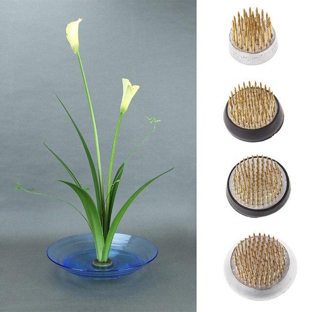 New Flower Holder Fixed Flower Arrangement Base Tools Round Janpanese Kenzan Flower Art Fixed Arranging Tools