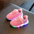 Novas Crianças Sapatos Da Moda Com Luz Led Crianças Sapatos Luminosos Brilhantes Tênis Da Criança Do Bebê Das Meninas Dos Meninos Sapatos LED UE 21-25