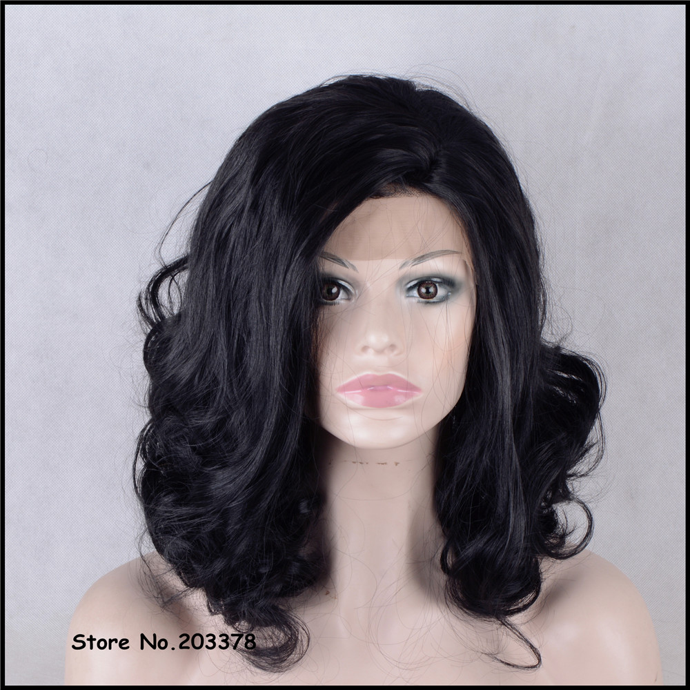 ФОТО Strong Beauty 24 inch Short Wavy Black Wigs Japan Kanekalon Synthetic Hair Quality Full Wigs For Black Woman