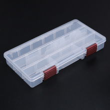 Durable 5 Compartments Transparent Visible Plastic Fishing Tackle Box Fishing Lure Storage Box Case Fish Tool  22.5*11.2*3.3cm