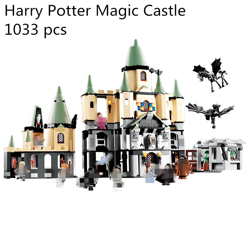 1033Pcs 16029 Model building kit compatible with lego 5378 Harry Potter Bricks Magic Hogwort Castle 3D blocks model building toy china brand 16029 educational bricks toys diy building blocks compatible with lego hogwarts castle 5378
