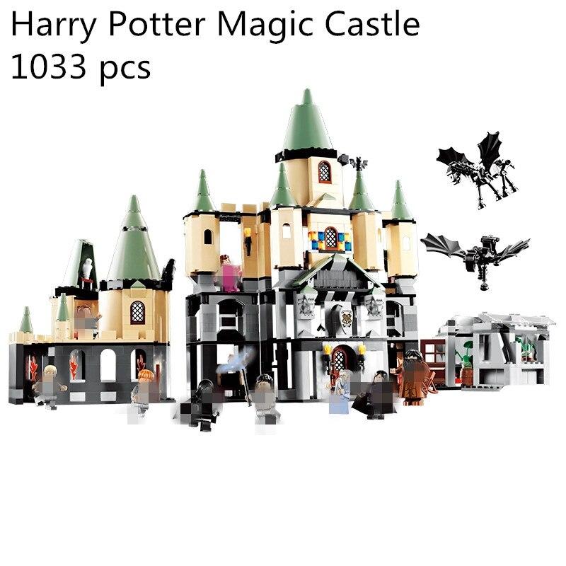 1033Pcs 16029 Model building kit compatible with lego 5378 Harry Potter Bricks Magic Hogwort Castle 3D blocks model building toy gonlei 10566 series volkswagen beetle model sets building kit blocks bricks toy compatible with