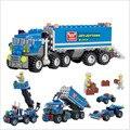 Educativos juguetes Camión de Descarga KAZI Iluminan Ladrillos niños regalos de cumpleaños DIY bloques de construcción de juguetes, los niños juguetes playmobil