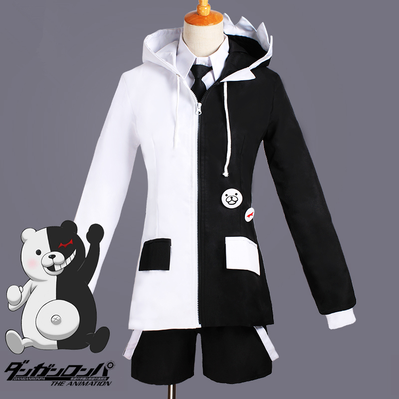 Anime Super Dangan Ronpa 2 Danganronpa Monokuma Black And White Bear Unisex Exquisite Cosplay Costume Casual Sportswear Outfit Keep You Fit All The Time