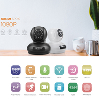 Sricam SP019 1080P Wireless IP Camera H 264 WiFi Indoor Security Camera P2P PTZ Support TF