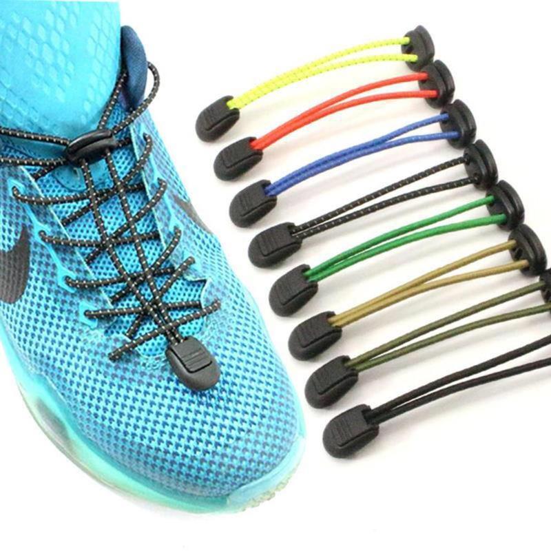 Эластичные ленивые без галстука кроссовки для бега шнурки для обуви простой замок светоотражающие шнурки унисекс