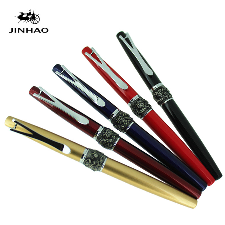 JINHAO-Y2 Luxury Metal Ballpoint Pens Metal Gift Box 0.7MM Blue & Black ink For Office Business Roller Ball Pen dikawen 891 gray gold dragon clip 0 7mm nib office stationery metal roller ball pen pencil box cufflinks for mens luxury