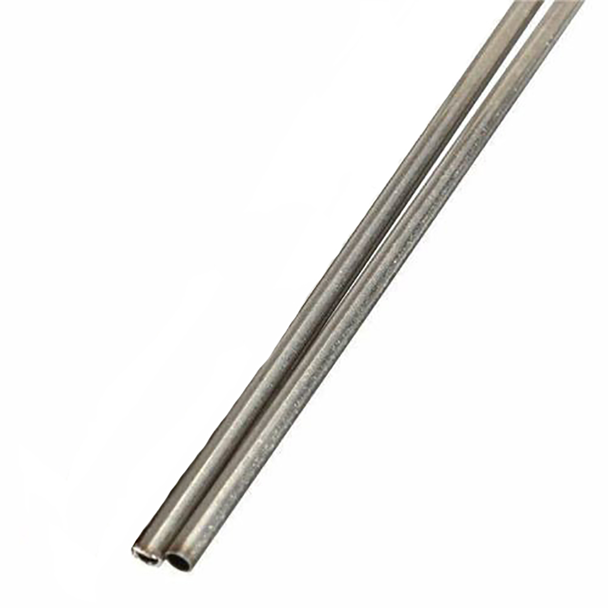 2pcs Corrosion Resistant 304 Stainless Steel Capillary Tube 2mm OD 1.6mm ID 500mm Length Silver