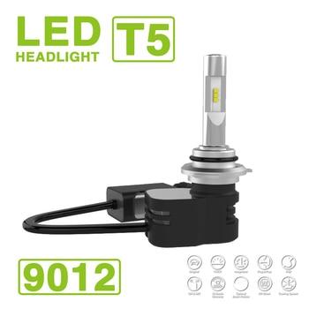 1 Set 9012 HIR2 Turbine T5 LED Headlight Headlamps 60W 9600LM CSP Y19 Chips All-in-one Super White 6000K Driving Fog Car Bulbs