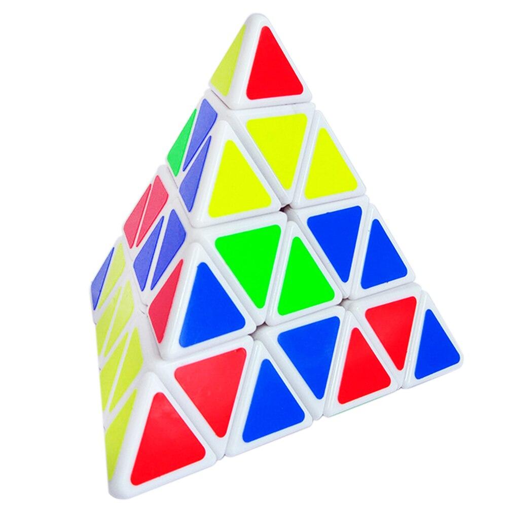 4 couches de ShengShou enfants Puzzle Cube magique 4*4*4 Triangle de vitesse 4x4x4 Cubes éducatifs jouet Cubo Megico autocollants