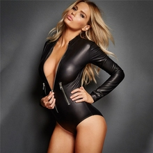 Women Sexy Wetlook PU Faux Leather body Lingerie Bodysuits Hot Erotic wear Costumes fetish Latex pvc Catsuit Catwomen Clubwear