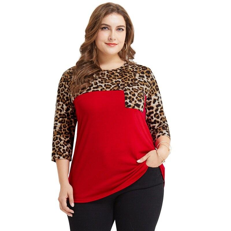 WHZHM プリントプラスサイズ 3XL 4XL トップスブラウス女性フルスリーブエレガントパーティーオフィス Vadim カジュアルポケットルーズシャツ女性  グループ上の レディース衣服 からの ブラウス & シャツ の中 1