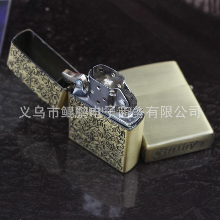 Hochwertige Tang Gras Bronze Mode Öl Petroleum Feuerzeuge winddicht - Haushaltswaren - Foto 2