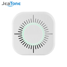 JeaTone Wireless Smoke Detector 433 MHz Fire Alarm Sensor Independent 360 Degrees Indoor Home Safety Garden Security Smoke Alarm spanish french polish turkish czech 433 mhz gsm alarm systems security home smoke sensor strobe siren leakage panic sensor