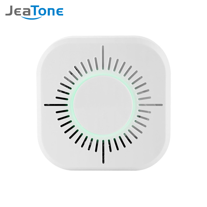 JeaTone Wireless Smoke Detector Independent Fire Alarm Sensor 360 Degrees Indoor Home Safety Garden Security Smoke Alarm