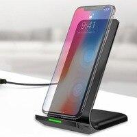 QI Беспроводной Зарядное устройство USB зарядки площадку для iphone 8 быстро Беспроводной зарядки док-станция для Apple 8 мобильный телефон Настоль...