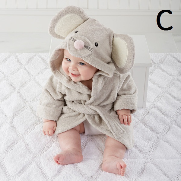 98d27acf0b Super soft 100% cotton baby bathrobe animal character hooded baby bath robe  hooded kids bathrobes cotton bath towels children-in Bath Towels from Home  ...