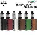 Оригинал Eleaf iStick QC 200 Вт с Мело 300 Комплект электронной сигареты 5000 мАч TC жидкостью vape mod с 3.5 мл танк starter kit vs iStick QC 200 Вт TC Mod