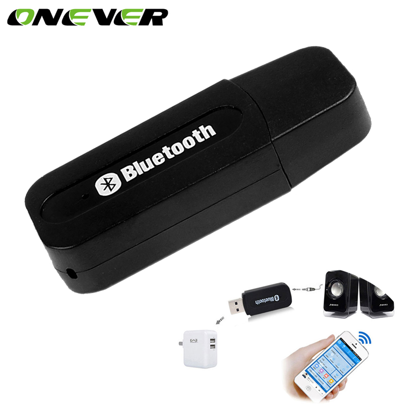 3.5MM Car USB Wireless Bluetooth Music Receiver Adapter Auto AUX Streaming A2DP Kit for Speaker Headphone