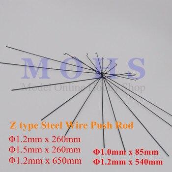 10/20 adet Z tipi D 1mm D1.2mm D1.5mm itme çubuğu çelik tel itme çekme çubuğu itme için rc uçak uçak çekme biyel