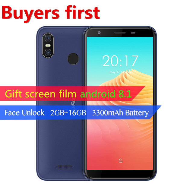 """Ulefone S9 Pro 5.5""""HD Mobile Phone Android8.1 MTK6739 Quad Core 2GB RAM 16GB ROM 13MP+5MP Dual Rear Cameras Face ID 4G Cellphone"""