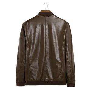 Image 3 - אמיתי עור מעיל גברים מעילי אמיתי כבש מותג שחור זכר אופנוע עור מעיל חורף מעיל בתוספת גודל 10XL 8XL 6XL