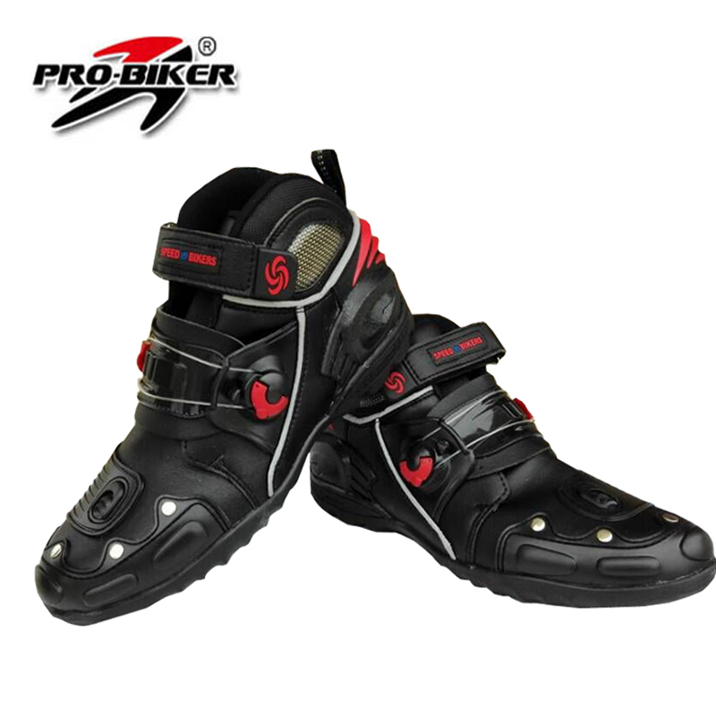 ФОТО 2015 new models men motorcycle boots Motocross Boots Pro-Biker Racing motorbike Boot BLACK SIZE:40-45