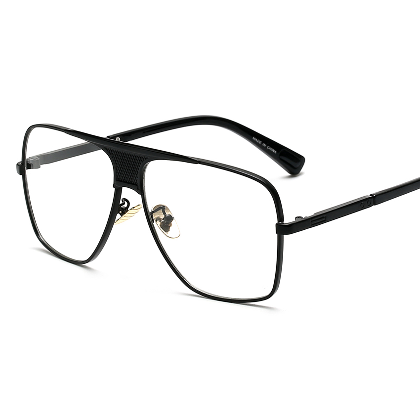 top frame glasses  Aliexpress.com : Buy Peekaboo Flat top men glasses frame branded ...