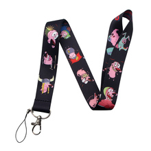 V206 COURAGE The Cowardly Dog Straps Lanyard ID Badge Neck Rope Chain Necklace Jewelry