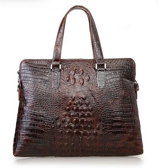High Quality Genuine Leather Men Bag Crocodile Leather Men Handbag Business Shoulder Bag Briefcase Messenger Bag Cowhide
