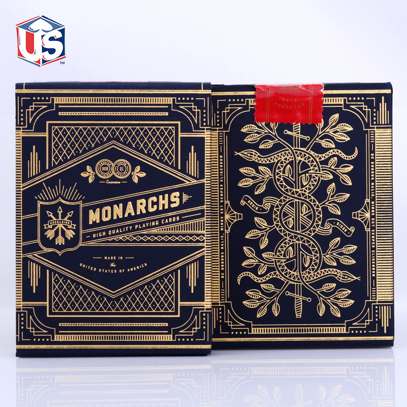 1 Punte de teorie11 Carduri de monarh de joc Monarchs Deck T11 Poker Magic Cards Close Up Magic Tricks pentru magician profesionist