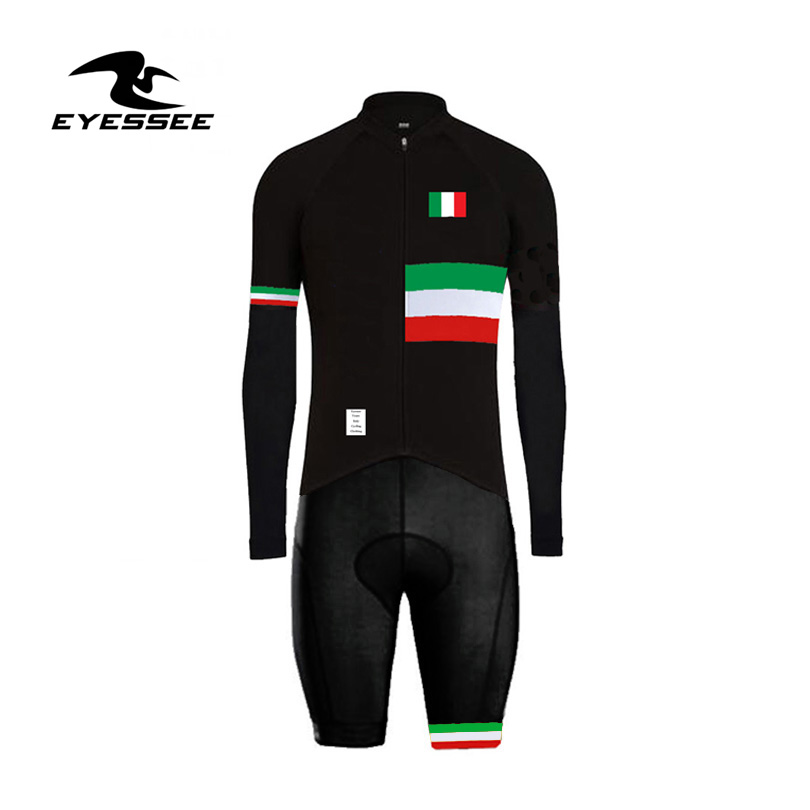 2019 Long Sleeve Cycling Skinsuit Ropa Ciclismo Cycling Sports Triathlon clothing Eyessee triatlon mode Italy cycling