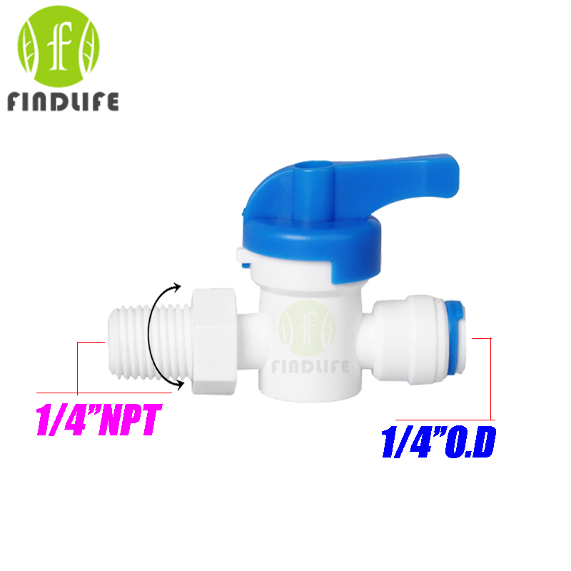 2 pcs Water Filter Parts 1/4OD *1/4 NPT BSP Female hand Ball Valve Quick Connect Switch Water Purifier Reverse Osmosis System water dispenser parts 8l connect storage water bottle with float ball connect with 1 4 ro water purifier system