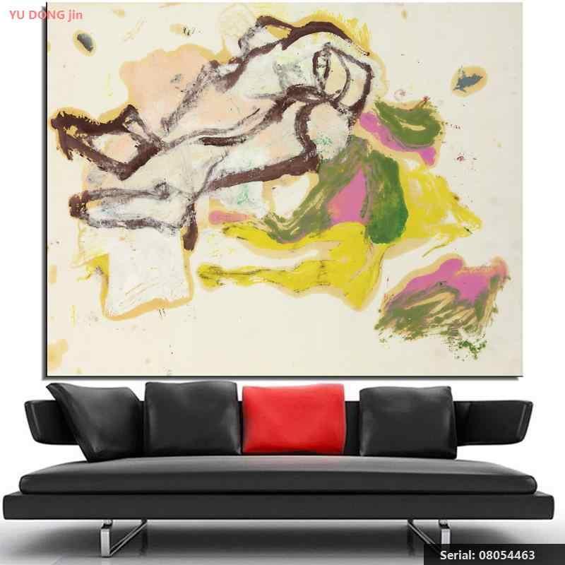 William de Kooning nature morte classique peinture à l'huile dessin art Spray sans cadre toile mur conception à la main wire08054463