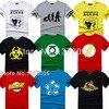 The Big Bang Theory T Shirt Sheldon Cooper Super Hero Green Lantern The Flash Cosplay T