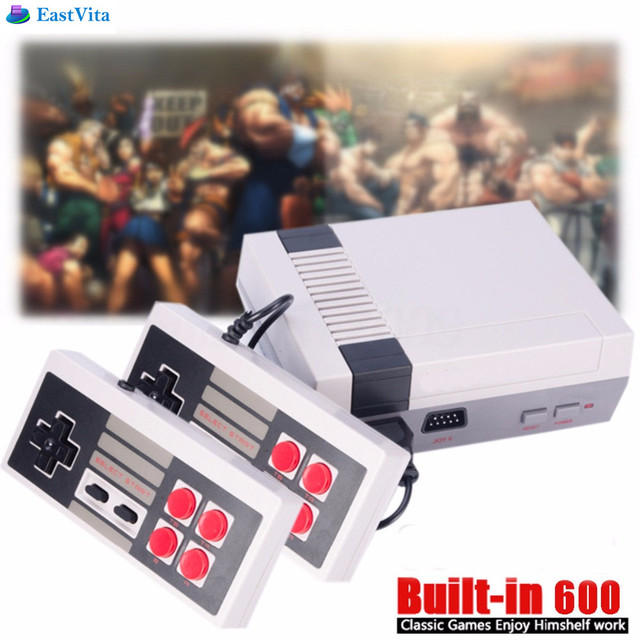 EastVita Retro TV Handheld Game Console Video Game Console mini Games Player Built-in 600 Games PAL&NTSC Dual Gamepad r33