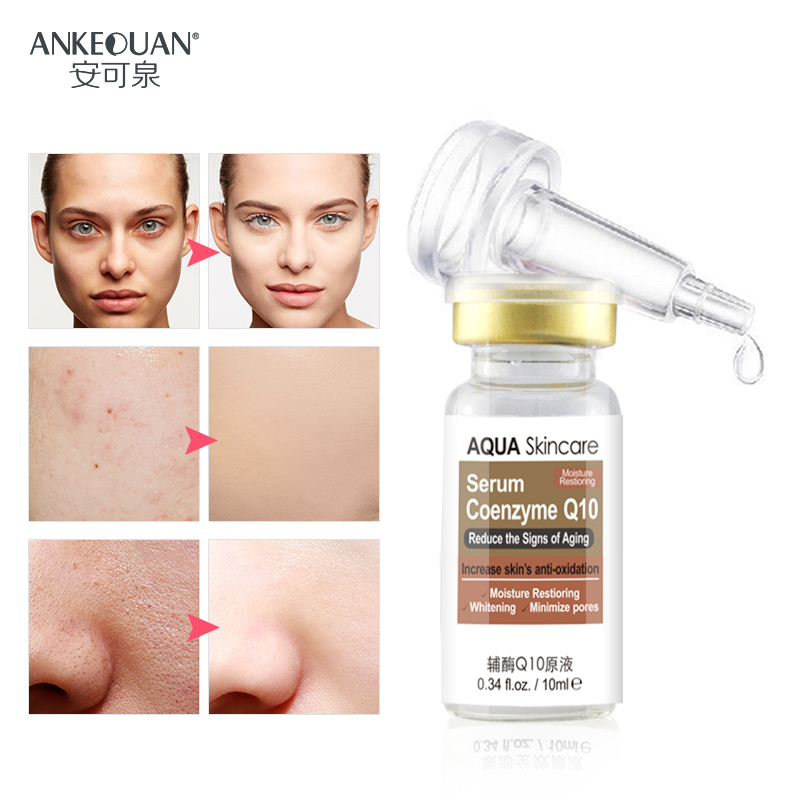 3 Bottles Skin care coenzyme Q10 serum make skin whitening and minimize poress reduce the signs of aging free shipping AGWA