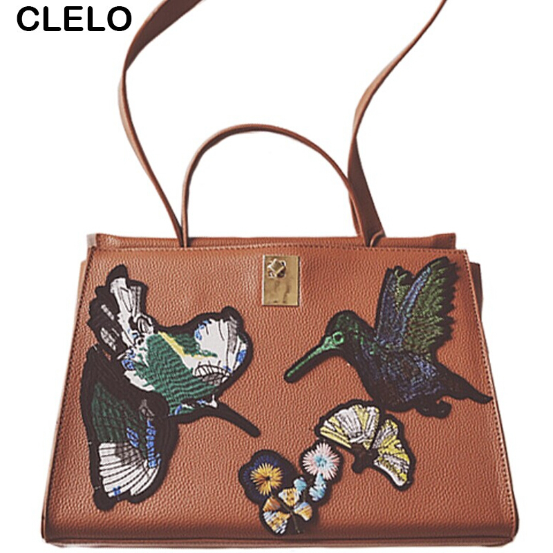 ФОТО CLELO 2017 new Europe in autumn and winter fashion embroidered Platinum package style shoulder crossbody bag and handbags