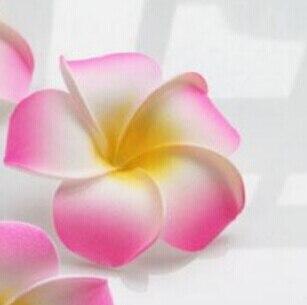 6 см Искусственный Плюмерия acutifolia PE Франгипани цветы, Рождественские Свадебные украшения орнамент, реквизит для фотографий, 200 шт - Цвет: Pink