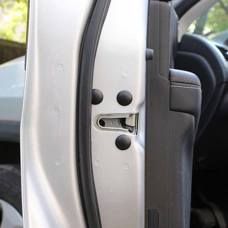 12 adet/takım Araba Kapı kilitli vida Koruma Çıkartmalar Su Geçirmez Kapılar Kapak Hyundai Tucson 2015-2017 için Ix35 Verna Solaris