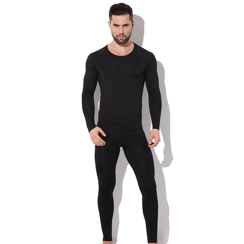 Image 5 - Herobiker Mens Fleece Lined Thermal Underwear Set Motorcycle 